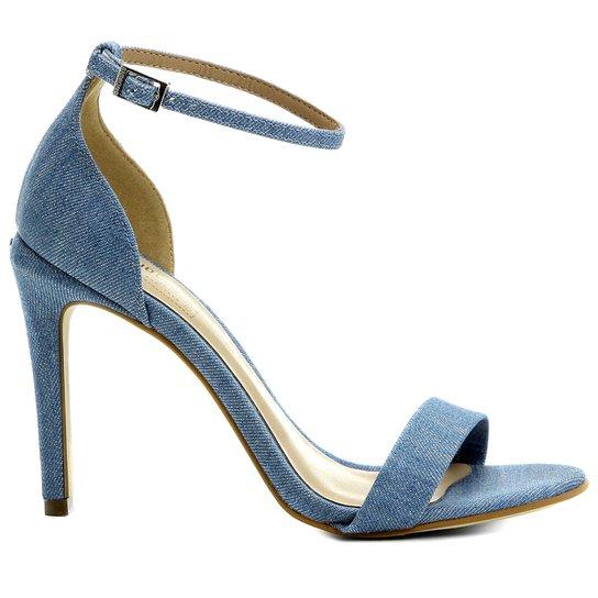 Sandália Dumond Tira Salto Alto  - Azul Claro