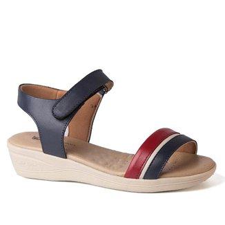 Sandália Feminina Anabela 180 em Couro Doctor Shoes