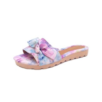 Sandalia Gomes Shoes Tecido Tie Dye Leve Confortavel Moderna