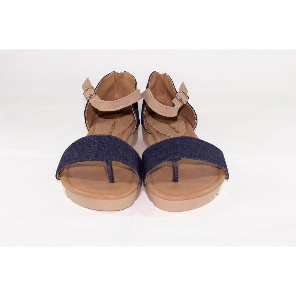 Sándalia Gomes Shoes Zíper Feminina - Azul