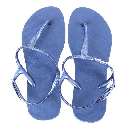 Sandália Havaianas Twist Fc Feminina - Azul Escuro