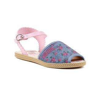 Sandália Hello Kitty Infantil Para Menina - Azul/rosa