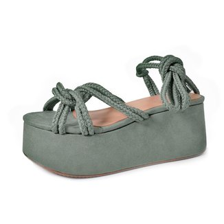 Sandália Hilary Olive Damannu Shoes Feminina