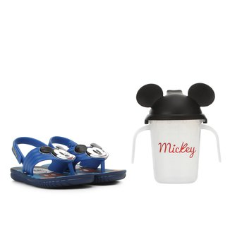 Sandália Infantil Disney Grendene Kids Mickey E Minnie Copinho Divertido Assandalhado Promo Baby