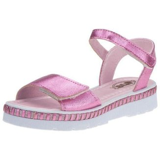 Sandália Infantil Flib Plataforma Velcro Glitter Feminina