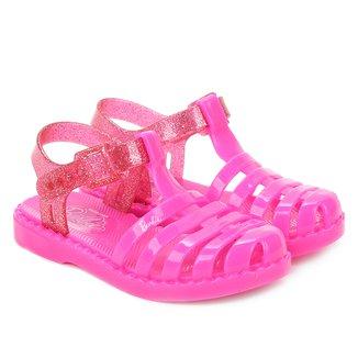 Sandália Infantil Grendene Barbie Glitter Feminina