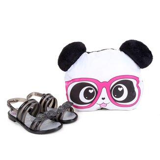Sandália Infantil Grendene Kids Luluca Love C/ Almofada Panda