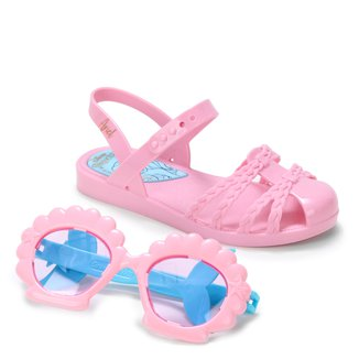 Sandália Infantil Grendene Kids Princesas Disney Fun Glasses Feminina