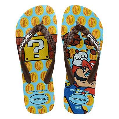 Sandália Infantil Havaianas Mario Bros