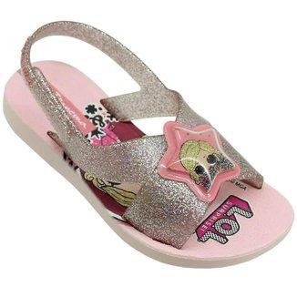 Sandália Infantil Lol Surprise Glitter Grendene Kids Feminina