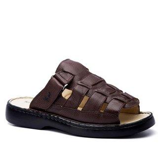 Sandália Masculina 323 em Couro Floater Doctor Shoes