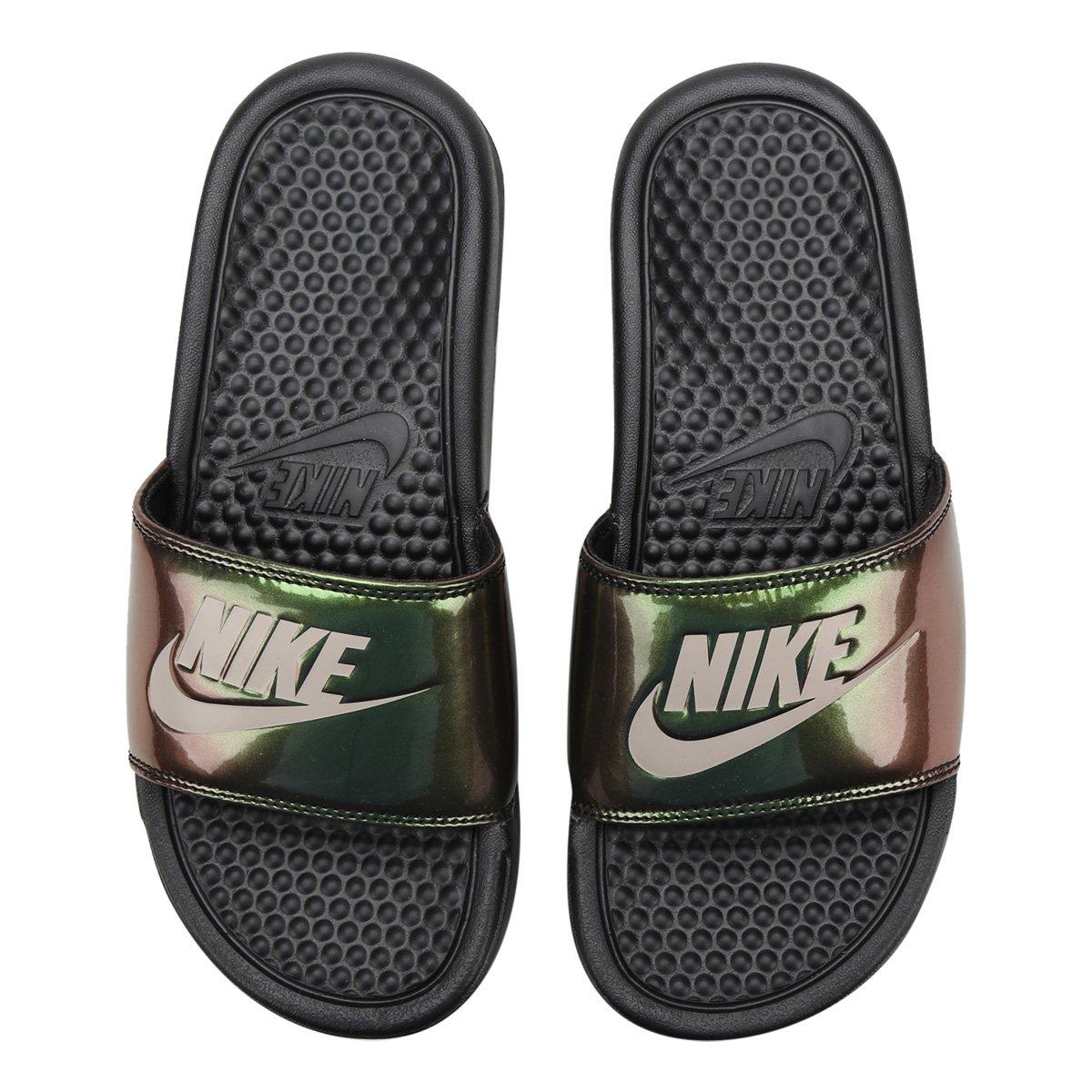 Preto Feminina Sandália Benassi Print Nike Jdi 8mNn0w