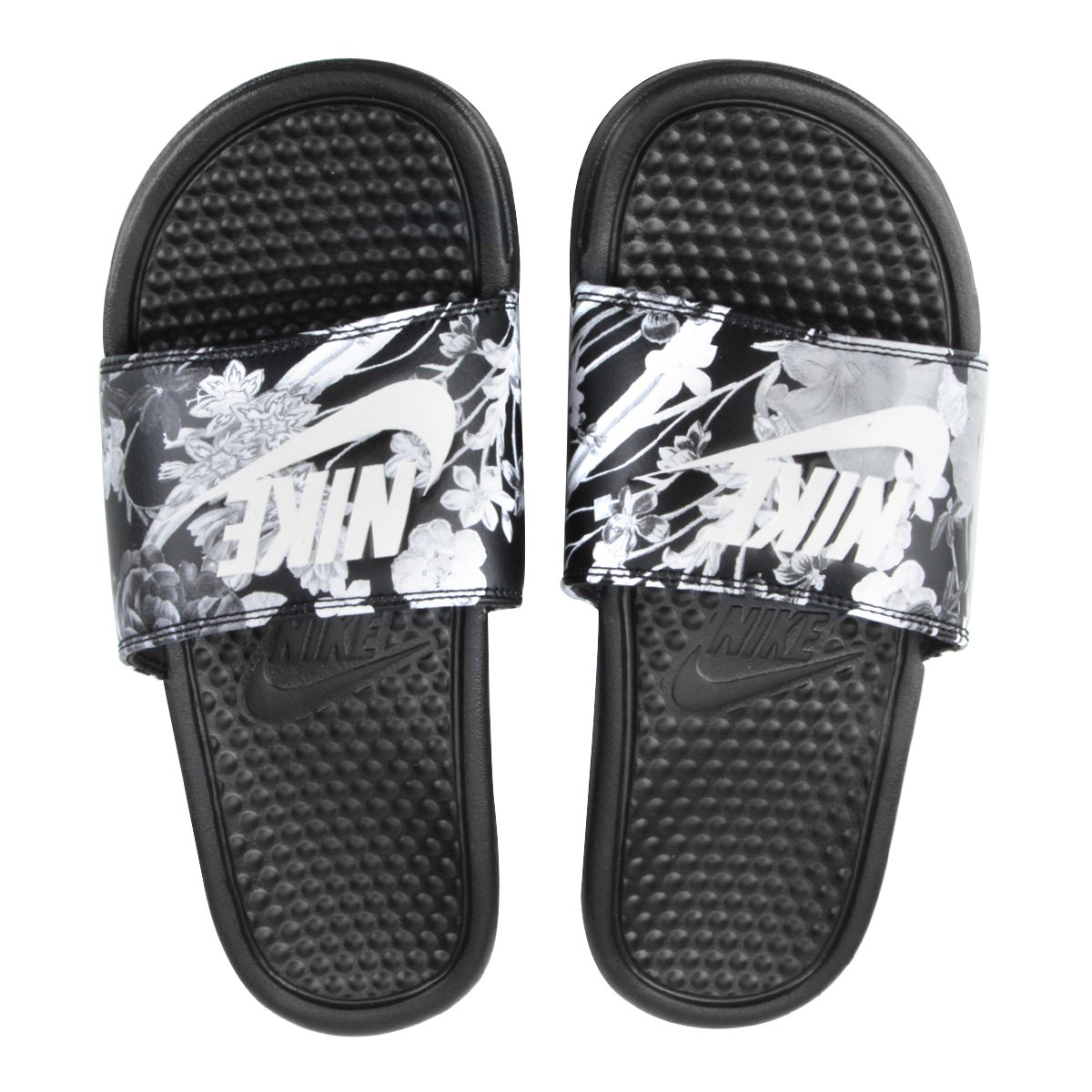 Preto Benassi E Cinza Print Nike Sandália Feminina Jdi PiTuwOkZX