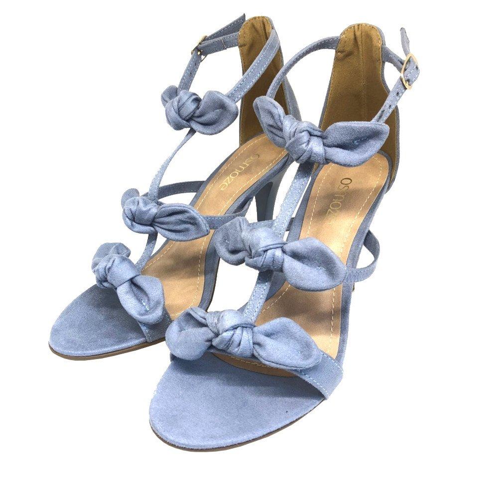 Claro Sandália Claro Salto Osmoze Sandália Azul Laços Fino Osmoze Azul Fino Salto Laços 7SwqTYw