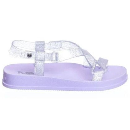 Sandália Petite Jolie Papete Infantil Glitter
