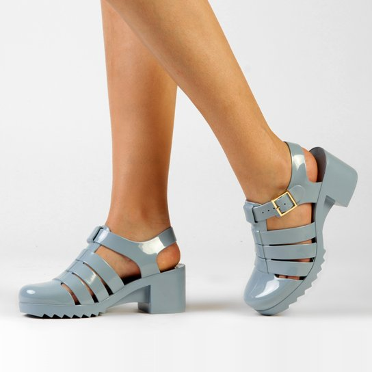 Sandália Petite Jolie Tiras - Azul Claro