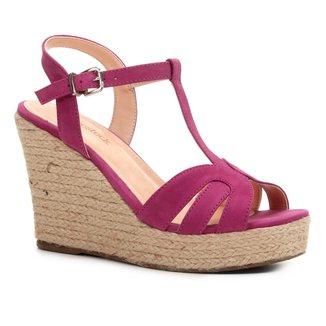 Sandália Plataforma Shoestock Tiras Corda Feminina