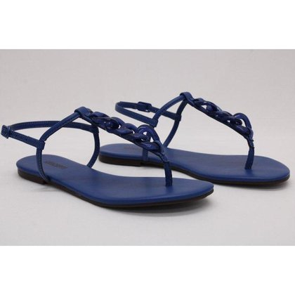 Sandália Rasteira Azul Anacapri