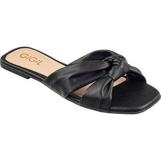 Sandália Rasteira Com Nó GiGiL Moda Confortável Feminina