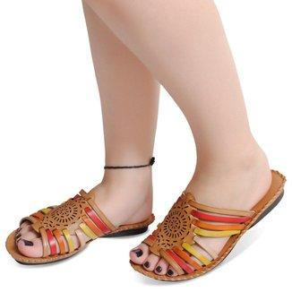 Sandalia Rasteira Em Couro Whisk Color