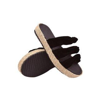Sandalia Rasteira Feminina use Com Saia Jeans Calça Bermuda