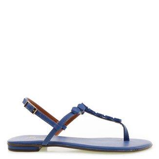 Sandália Rasteira M Shuz Santorine Azul Feminino 33