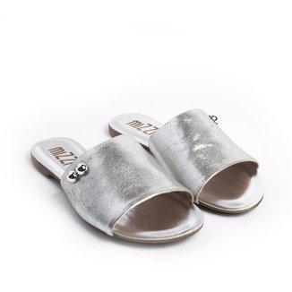 Sandália Rasteira Mizzi Shoes com Botom Feminina