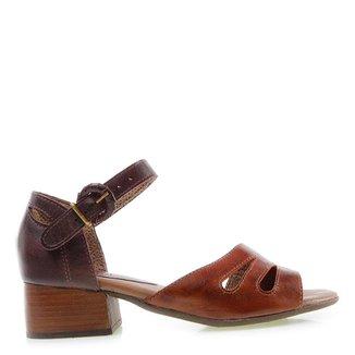 Sandália Salto Baixo Miss Western Marrom/Brown 40