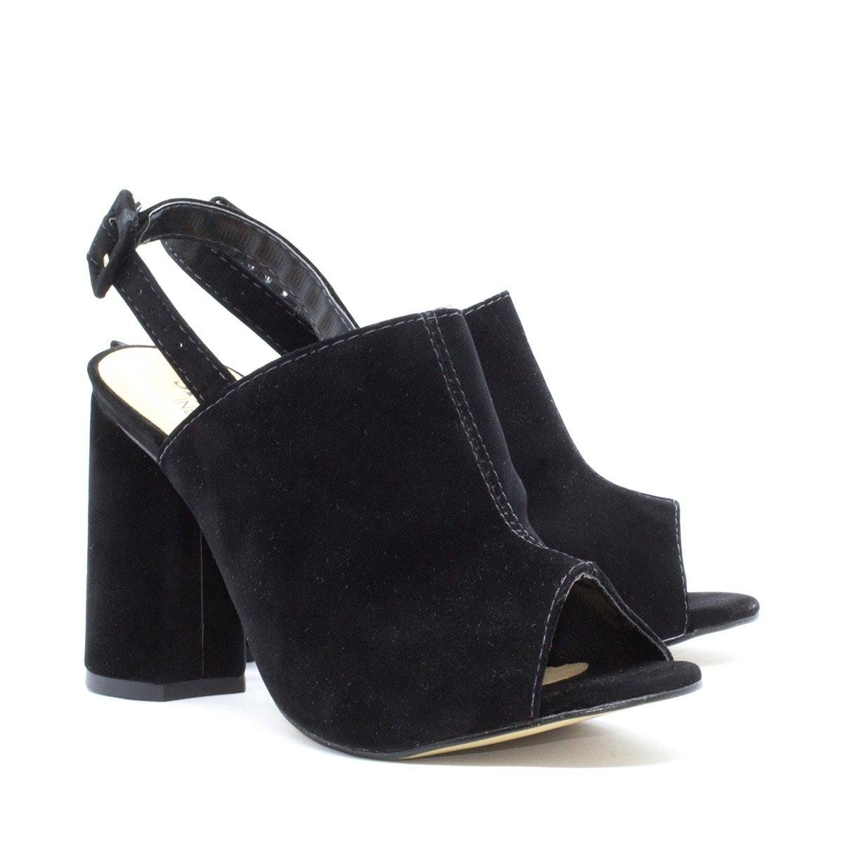 Sandália Inbox Salto Sandália Grosso Preto Shoes Boot Feminina Sandal Sandal 6wUqP5