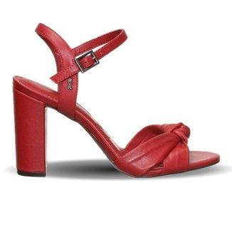 Sandália Santa Lolla com Detalhe em Nó Vermelha