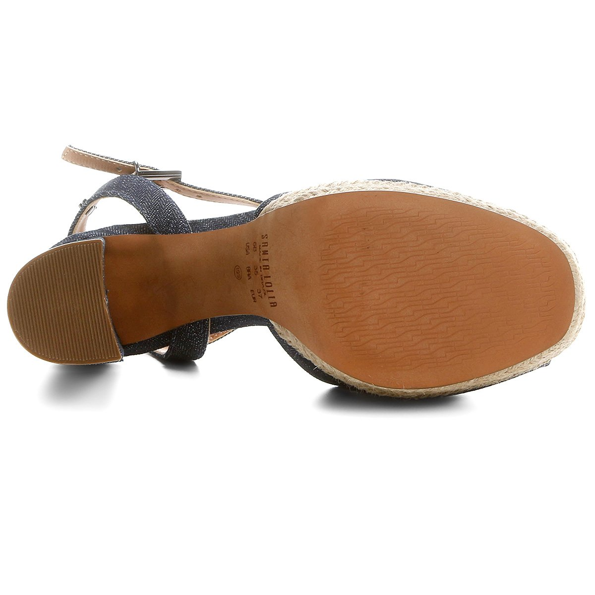 Santa Lolla Pata Sandália Meia Corda Jeans Sandália Santa Jeans Fnq4xwfCq