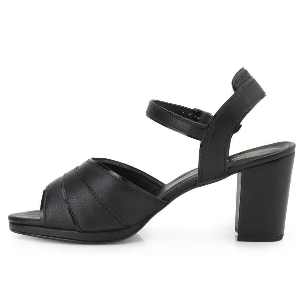 Sandália Sense Flex Feminina - Preto