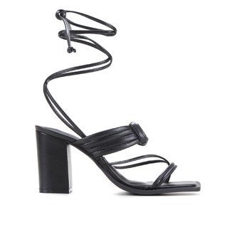 Sandália Shoestock Color Salto Bloco Alto Feminina