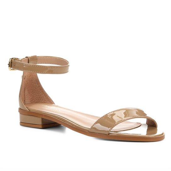 Sandália Shoestock Flat Tira Naked Feminina - Amendoa