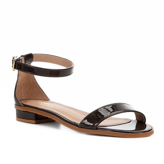 Sandália Shoestock Flat Tira Naked Feminina - Cacau