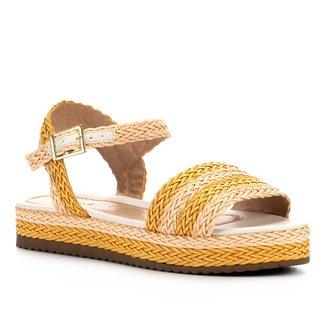 Sandália Shoestock Flatform Trança Feminina
