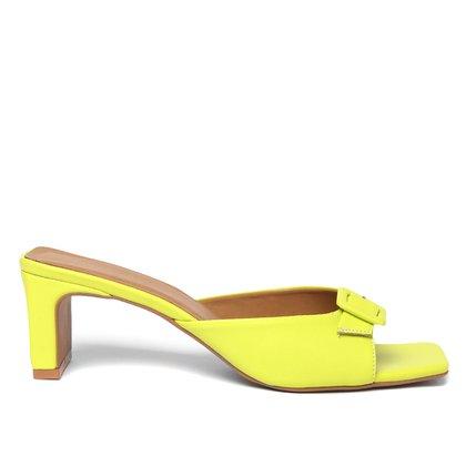 Sandália Shoestock For You Salto Bloco Fivela Feminina