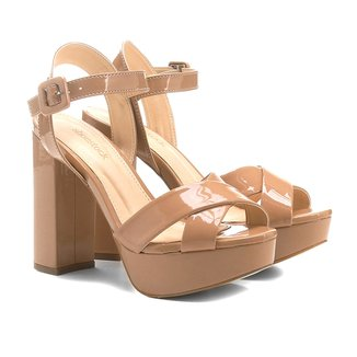 Sandália Shoestock Meia Pata Salto Alto Feminina