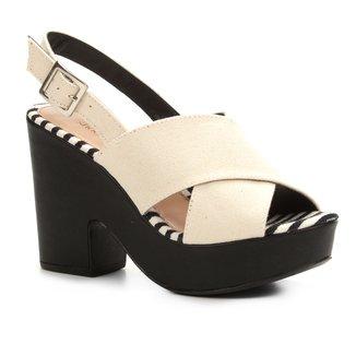 Sandália Shoestock Meia Pata Tiras Largas Feminina