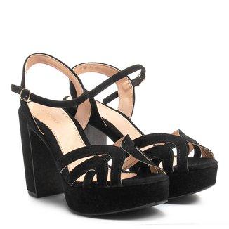 Sandália Shoestock Meia Pata Tirinhas