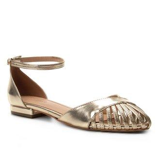 Sandália Shoestock Metalizada Feminina