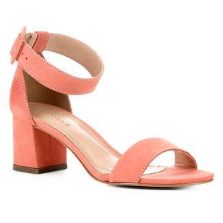 Sandália Shoestock Nobuck Fivela Feminina