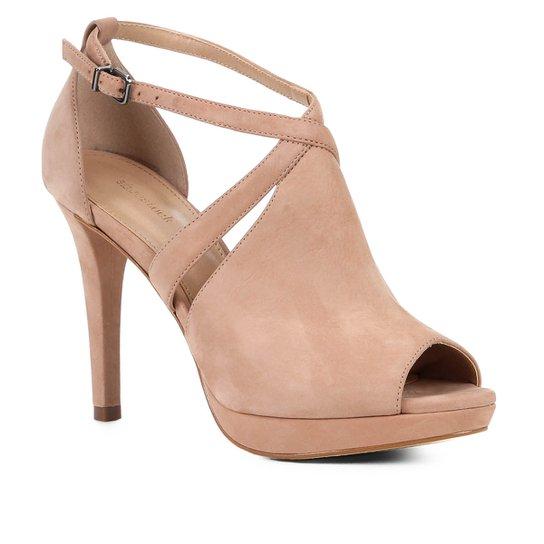 Sandália Shoestock Nobuck Meia Pata Feminina - Nude