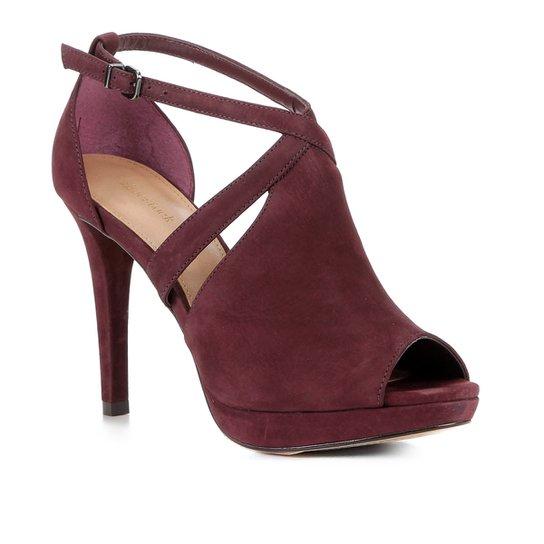 Sandália Shoestock Nobuck Meia Pata Feminina - Bordô