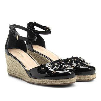 Sandália Shoestock Plataforma Flores Feminina