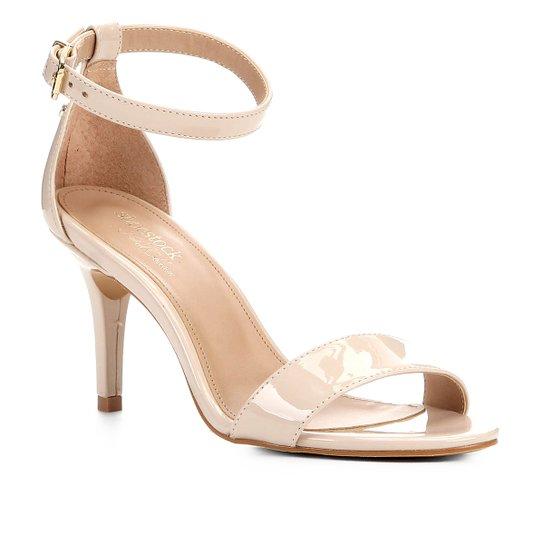 Sandalia Shoestock Salto Alto Naked Feminina - Macadamia
