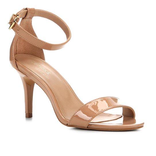 Sandalia Shoestock Salto Alto Naked Feminina - Noz