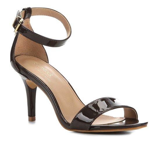 Sandalia Shoestock Salto Alto Naked Feminina - Cacau