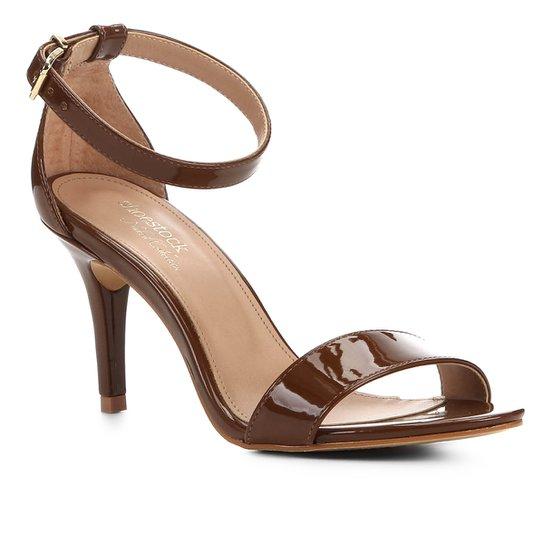 Sandalia Shoestock Salto Alto Naked Feminina - Avelã