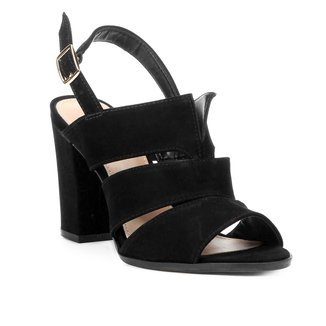 Sandália Shoestock Salto Alto Nobuck Feminina